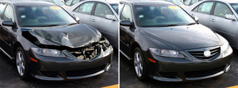 before after auto body
